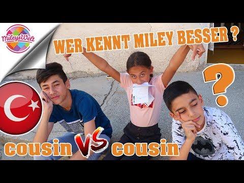 WER KENNT MILEY BESSER ?? Cousin vs. Cousin Türkei Edition | Mileys Welt