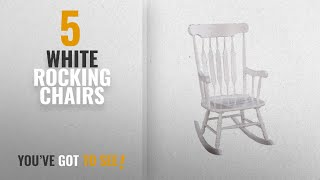 Top 10 White Rocking Chairs [2018]: Coaster Home Furnishings Rocking Chair, White