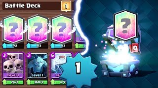 LEVEL 1 ACCOUNT GETS 3 LEGENDARY CARDS | Clash Royale