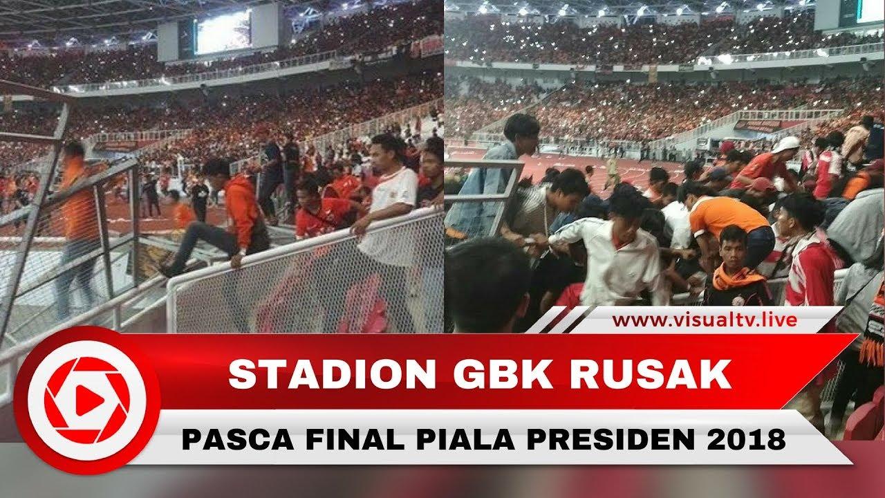 Gbk Rusak Pasca Final Piala Presiden Persija Vs Bali United