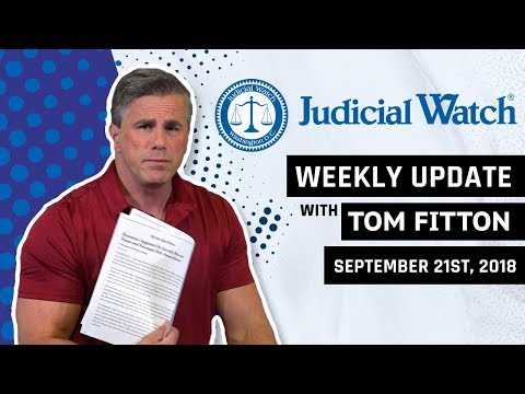 Tom Fitton's Weekly Update - BREAKING - The DOJ & FBI's LATEST Effort to Overthrow President Trump