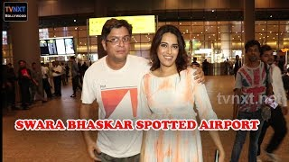 Swara Bhasker Spotted At Mumbai Airport   Bollywood Latest Updates   TVNXT Bollywood