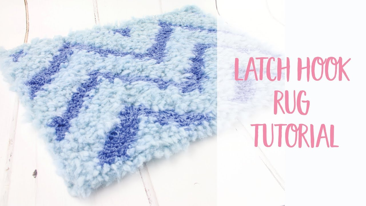 Geometric Latch Hook Rug Diy Tutorial