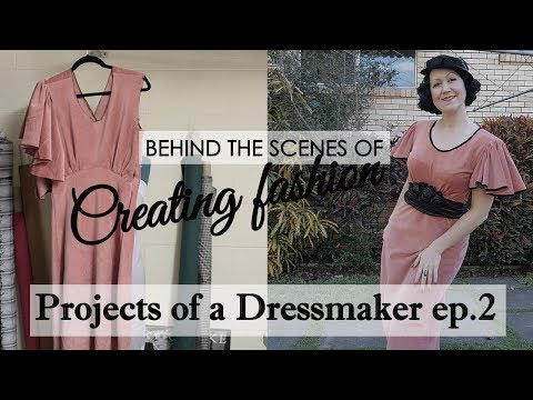 DIY vintage dress -1930's style dress with the most EPIC sleeves - Projects of a Dressmaker ep 2