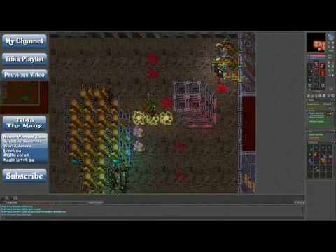 Lets Play Tibia: Power Leveling in the Factory Quarter. (ENG)