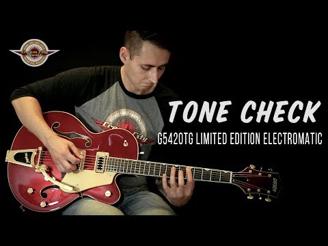 TONE CHECK FULL DEMO: Gretsch G5420TG Limited Edition Electromatic w/Bigsby Candy in Apple Red