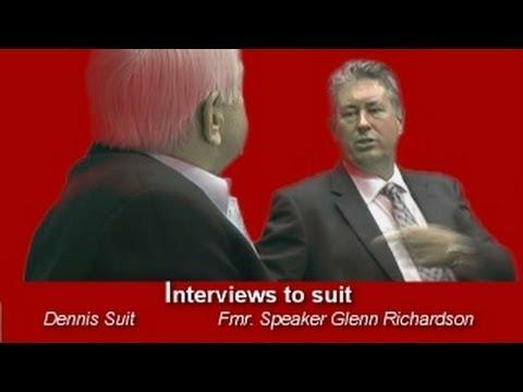 Interviews to suit: Former Speaker Glenn Richardson