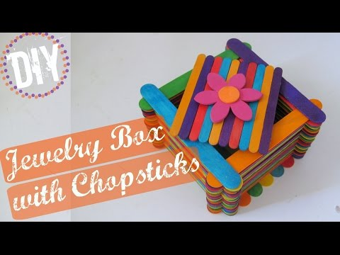 DIY Children's Jewelery Box with Chopsticks