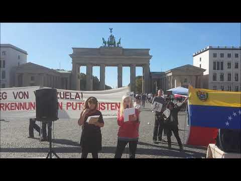 Berlin 21.9. Grüße nach Venezuela - Blockade gegen Venezuela stoppen! #HaendewegvonVenezuela