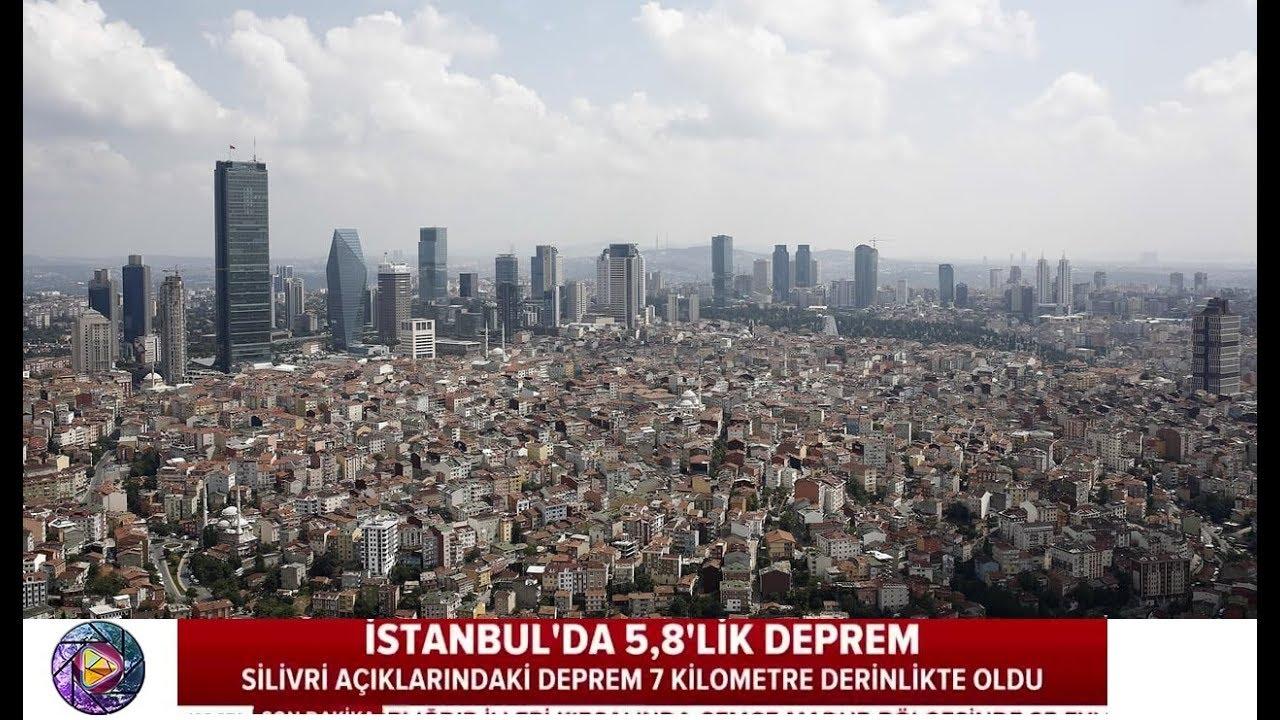 İstanbul'da Korkutan 5.8 Deprem Görüntüleri 26 Eylül