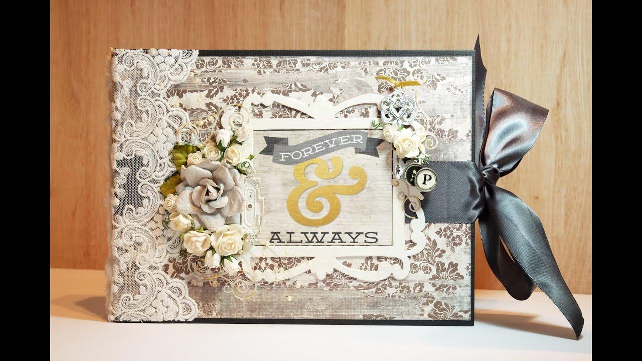 scrapbook wedding album youtube. Black Bedroom Furniture Sets. Home Design Ideas