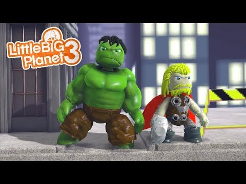 LittleBIGPlanet 3 - MARVELS AVENGERS [ChAsEiSgR8 Sackbot Exclusive] - Playstation 4 Gameplay