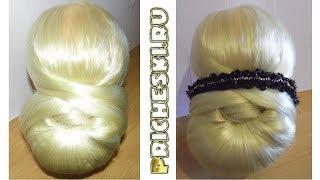 Вечерняя прическа на длинные волосы, и волосы средней длинны  Вечерняя прическа в домашних условиях