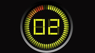 Countdown Timer 60 sec yellow ( v 135 ) ticking CLOCK with sound effects + beep alarm HD!