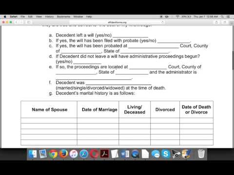What is an affidavit of heirship form?