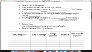 How to Write an Affidavit of Heirship Form