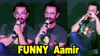 Aamir Khan's Most FUNNY Moments At Secret Superstar Song Launch