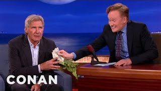 "Harrison Ford Spills ""Star Wars"" Spoilers For $1000 - Conan on TBS"