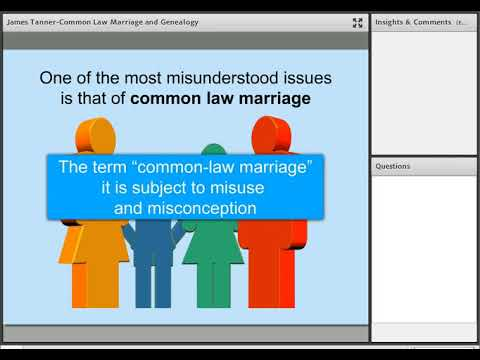 Common Law Marriage and Genealogy - James Tanner