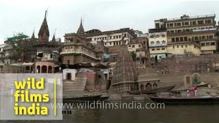 Old world India resides in these ancient buildings along this dirty river in Varanasi