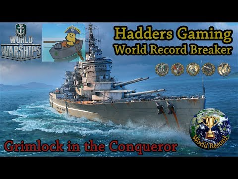 World of Warships - World Record Conqueror game! Definitely the most fun ship.