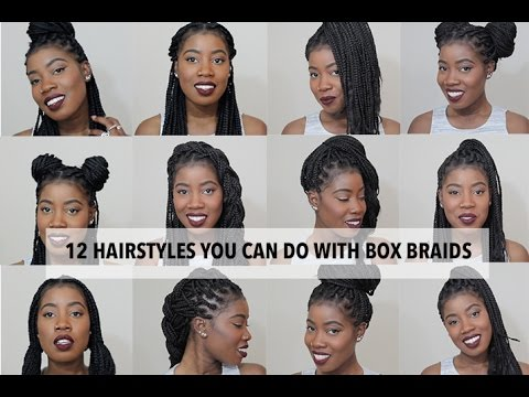 what style can i do with hair 12 easy hairstyles you can do with box braids 7598