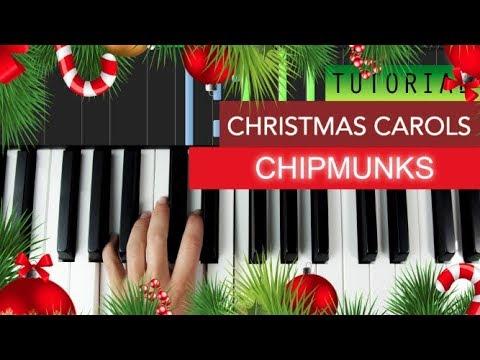 Christmas Carols - Chipmunks ( Piano Tutorial )