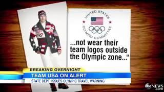 Olympians Warned About Wearing Team USA Gear in Sochi