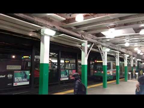 MBTA Green Line at Boylston station