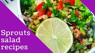 Sprouts Salad I Moong Daal sprouts I Easy Salad recipe