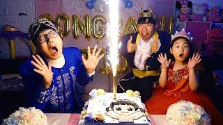 驚喜派對宝蓝的生日將慶祝生日並一起玩遊戲!