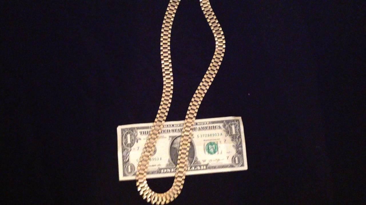 10kt gold jewelry rolex chain YouTube
