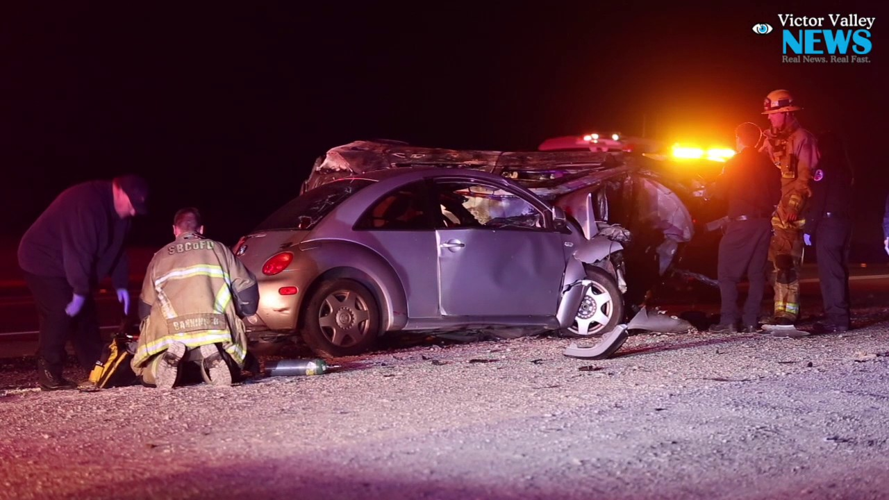 Two Killed in Fiery Crash on US Highway 395