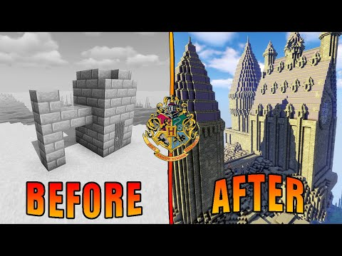Surprising A Harry Potter Superfan With Her Dream Base | Minecraft Nerdy Flippers E2