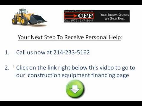 Construction Equipment Financing - Buying Used Construction Equipment For Sale? Get Financing