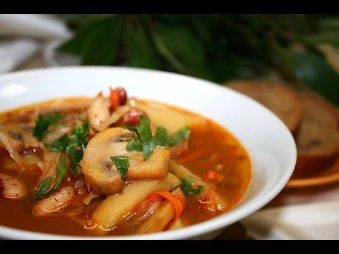 с с суп фото грибами рецепт капустой и