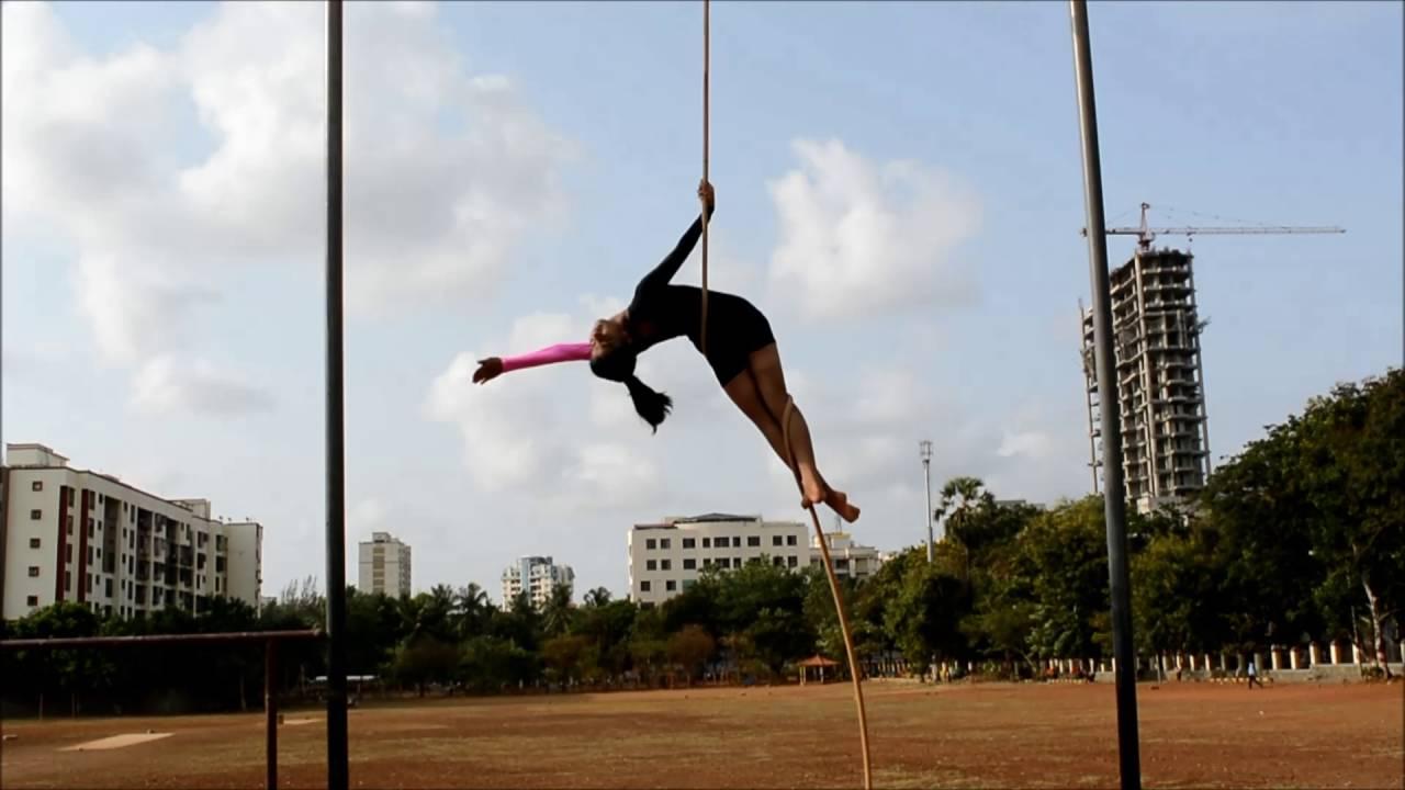 rope mallakhamb video