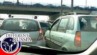 Nightmare Moscow Traffic: Traffic Jam on MKAD // Different Russia Channel
