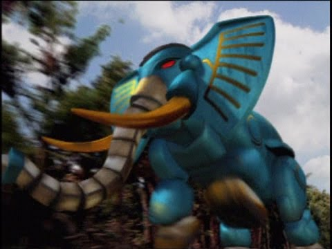 Power Rangers Wild Force - Elephant Zord First Scene ...