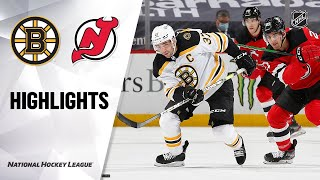 Bruins @ Devils 5/4/21 | NHL Highlights
