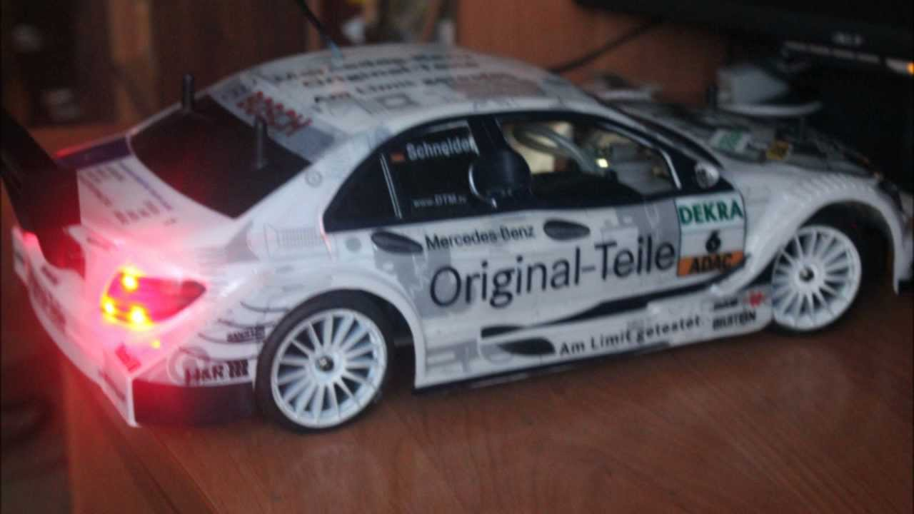 AMG Mercedes C-Class DTM 2008 от Deagostini. - YouTube