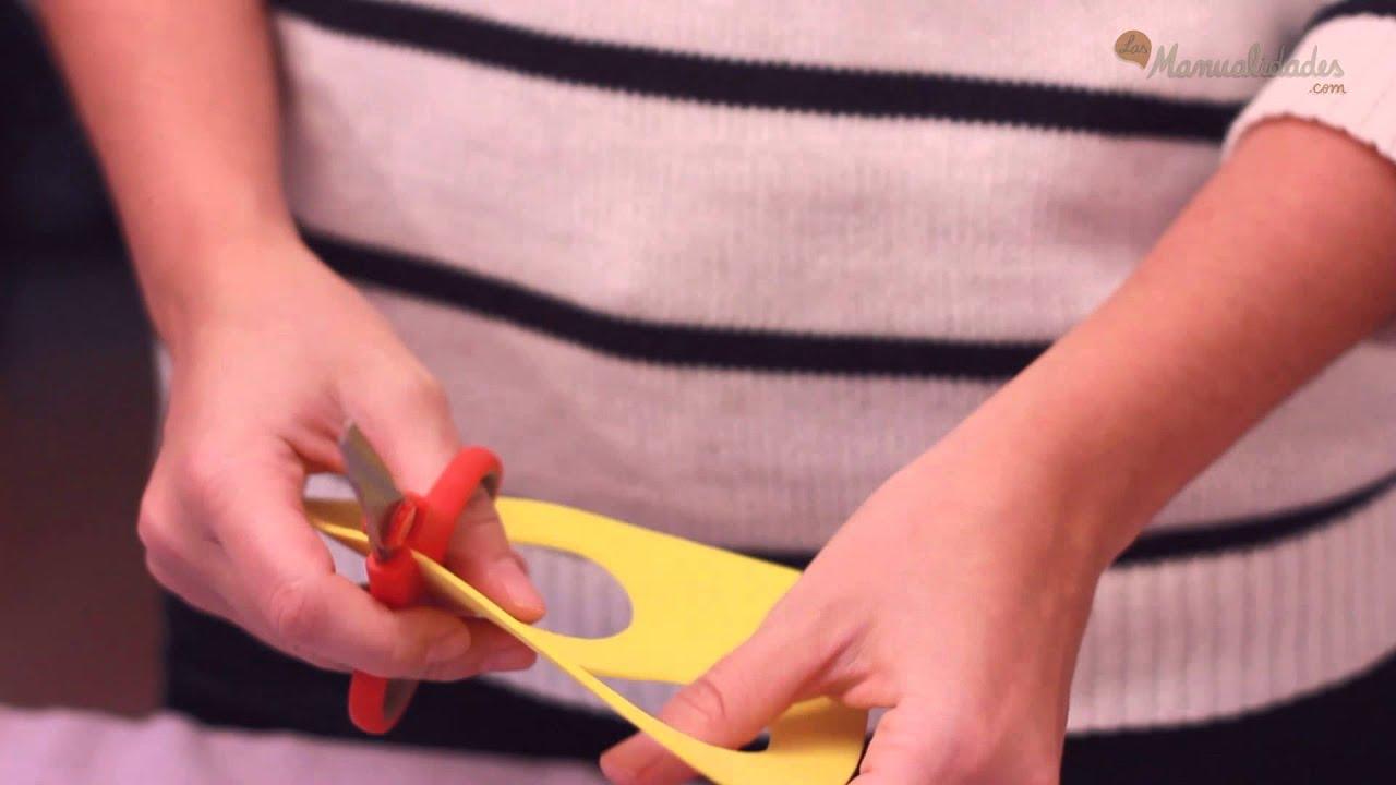 Cómo hacer una Máscara infantil - YouTube