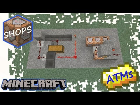 MINECRAFT - SHOPS & ATMS (with COMMAND BLOCKS)