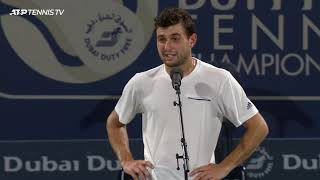 Aslan Karatsev - Post-Match Interview - SF - 2021 Dubai Duty Free Tennis Championships