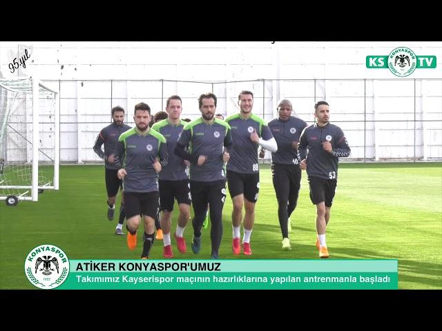 Takımımız Kayserispor maçı hazırlıklarına başladı