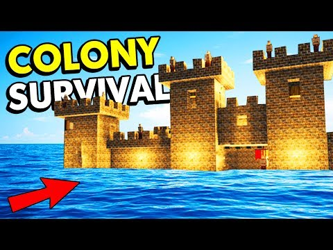 THIS COLONY ON WATER IS IMPOSSIBLE TO DEFEAT! (Colony Survival Funny Gameplay)