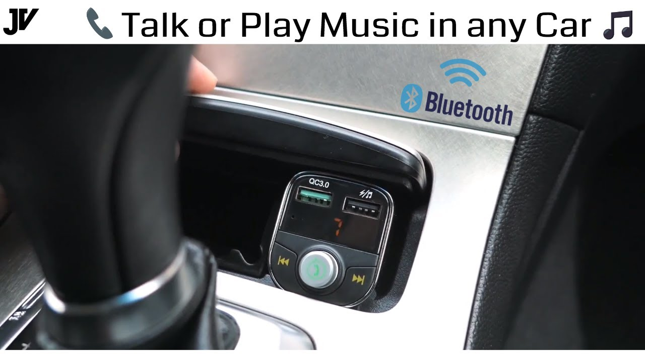 Connect Your Phone To Any Car Radio Bluetooth Adapter Youtube
