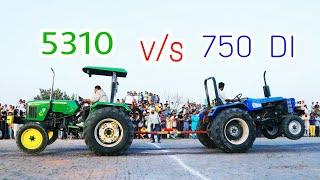 johndeere 5310 vs sonalika 750 tractor tochan in barnala  punjab