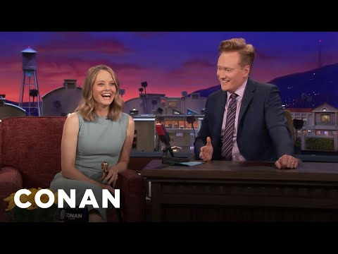 Jodie Foster Loved Playing Guitar Hero   CONAN on TBS