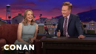 Jodie Foster Loved Playing Guitar Hero  - CONAN on TBS